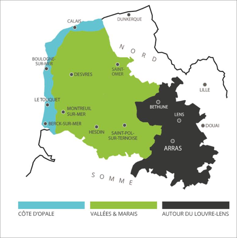 carte Pas-de-Calais